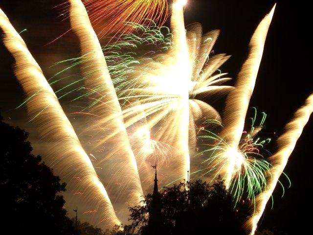 Neujahr Feuerwerk