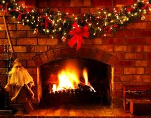 Weihnachten Kamin