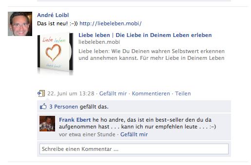 Liebe Leben Feedback auf Facebook